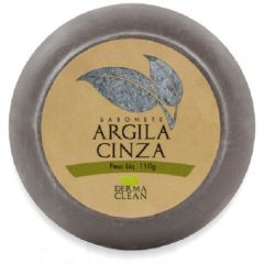 SABONETE ARGILA CINZA 110G DERMA CLEAN